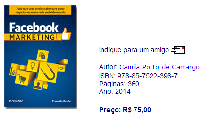 #FicaaDica: Livro  Facebook Marketing – Camila Porto