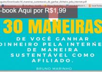 E-book 30 Maneiras de Você Ganhar Dinheiro pela Internet com Bruno Marinho