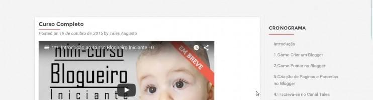 Review do Curso Blogueiro Iniciante – TAG:Blogueiro Iniciante