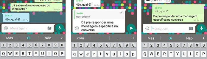 WhatsApp agora permite citar mensagens especificas em conversas